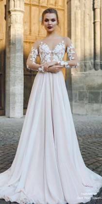 wedding photo - FILISI - A-line Backless Wedding Dress With Long Train