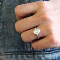wedding photo - 18K White Gold Aria Diamond Ring
