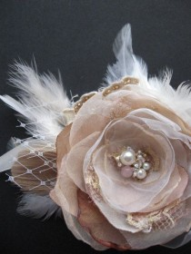 wedding photo - Favorite  Like This Item?    Add It To Your Favorites To Revisit It Later.  Vintage Rustic Wedding Hairpiece