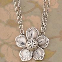 wedding photo - Sterling Silver Madeline Flower Necklace