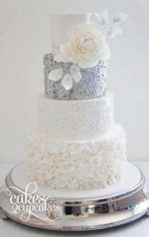 wedding photo - Sequin Wedding Cakes