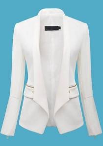 wedding photo - Unique Elongated Lapel Design...beautiful Jacket.