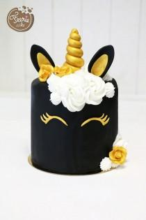 wedding photo - #einhorn #einhörner #fondant #motivtorte
