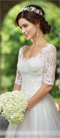 wedding photo - Lace Sleeves Wedding Dresses (96) #weddingdress
