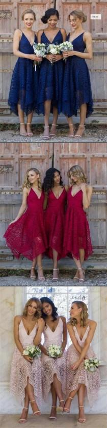 wedding photo - Short Royal Blue Pink Red Bridesmaid Dresses, Full Lace Newest Bridesmaid Dress, PD0333 #lace Bridesmaid Dresses#fashion #shoppi…