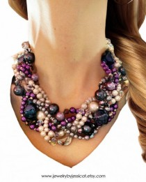 wedding photo - Image Result For Pink Braided Pearl Necklace