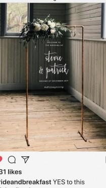 wedding photo - Modern Wedding Inspiration, Industrial Welcome Sign, Wedding Planning Tips, Bride, Wedding Decorations, Wedding Decor, We…