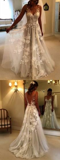 wedding photo - Lace Strapless Wedding Dress Long Train Beautiful Lace Mermaid Wedding Dresses