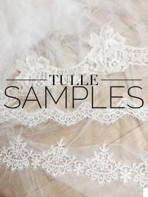 wedding photo - Veiling tulle samples, Tulle samples, Soft tulle samples, Lace samples, Veil samples, Veiling samples, Tulle swatches, Veil swatches