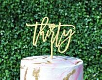 wedding photo - 30th Birthday Cake Topper