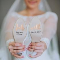 wedding photo - Customizable shoe stickers for your wedding on vinyl foil rosegold for you and him, bridal shoe, groom shoe, wedding shoe