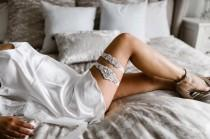 wedding photo - Grace Bridal Garter Set, Wedding Garters