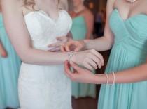 wedding photo - Wedding Bracelet, Pearl Bridal Bracelet, Vintage Style Crystal and Pearl Bracelet, Wedding Statement Bracelet, Rhinestone Bracelet, GRACE