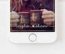 wedding photo - Couples Shower Snapchat Geofilter Gold, Couples Shower Geofilter, Couples Shower Filter,Wedding Weekend Geofilter, Couples Shower,Gold