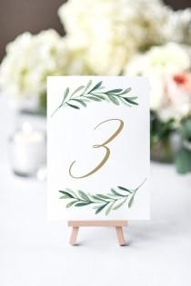 wedding photo - SALE! Table Numbers, Wedding Table Number, Printed Table Number, Script Table Number, Modern Table Number,  - Edit in Word or Pages