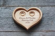 wedding photo - Heart shaped Pillow Wedding ring box alternative Wedding heart Wedding plaque Wedding Ring Dish Wedding Ring Plate Wedding Ring Bearer
