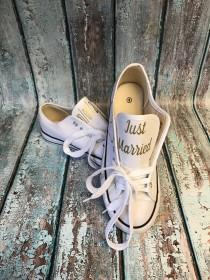 wedding photo - SALE wedding shoes - wedding tennis shoes - wedding reception shoes - wedding photo props - personalized wedding shoes - bridal shower gift