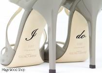 wedding photo - Wedding Shoe Decal - I Do Shoe Decal - Bridal Shoe Accessories