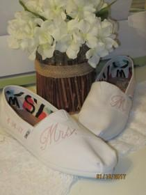 wedding photo - Bridal Shoes - Personalized Toms - Wedding Shoes
