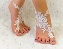 wedding photo - Beach wedding shoes, Barefoot sandals, Wedding Accessories, Wedding Gift, Lace Wedding Shoes, Wedding Barefoot Sandals, Beach Shoes