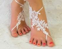 wedding photo - Barefoot sandals white, wedding accessories, wedding gift, bridesmaid gift, bride gift, beach wedding barefoot sandals, barefoot sandles