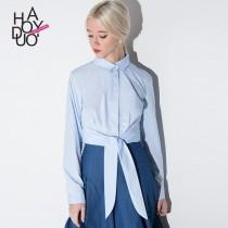 wedding photo - School Style Must-have Vintage Tie Casual Blouse - Bonny YZOZO Boutique Store