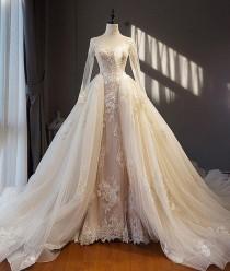 wedding photo - Designer A Linie Brautkleider Mit Ärmel Spitze Hochzeitskleider Günstig Online Modellnummer: XY191