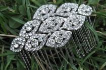 wedding photo - Wedding hair comb,Bridal headpiece,Wedding hair barrette,Bridal hair comb,Wedding comb,Prom hair comb,Bridal comb,Wedding hair accessories