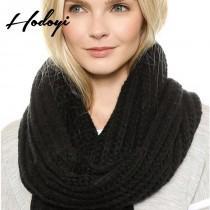 wedding photo - 2017 ladies winter fashion coarse knit solid color knit scarf - Bonny YZOZO Boutique Store