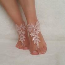 wedding photo - beach wedding lace barefoot sandals bridal shoes bangle flexible wrist accesories wedding bangles anklets bridal wedding bridesmaids gifts