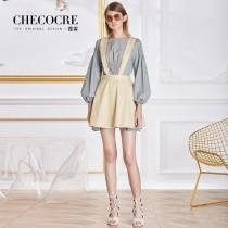 wedding photo - Vogue Slimming Bishop Sleeves Scoop Neck Outfit Overall Dress Top - Bonny YZOZO Boutique Store