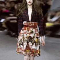 wedding photo - Vogue Vintage Wool Lattice Trendy Fancy Outfit Twinset Skirt Suit - Bonny YZOZO Boutique Store