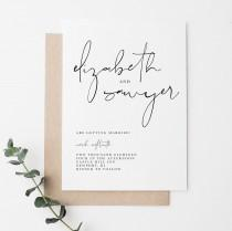wedding photo - Simple Wedding Invitation