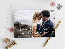 wedding photo - photo save the date template, save the date postcard, save the date template, add your own photo and text in TEMPLETT