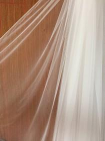 wedding photo - 300cm Wide Off White Soft Flowy Tulle FAT Quarter for Bridal Veils Gown, Garters, Embroidery, Costumes