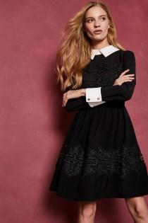 wedding photo - Ted Baker Haeden Collared Lace Panel Dress
