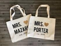 wedding photo - Bride Bag/Bride gift/bride tote bag/bridal shower gift/engagement/bride tote/wifey bagt/engagement gift/tote bag canvas/wedding/wedding gift