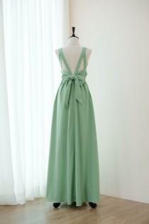 37594ded3c Sage green dress Long Bridesmaid dress Wedding Dress Long Prom dress Party  dress Cocktail dress Maxi dress Evening Gown