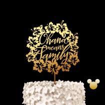 wedding photo - Ohana Means Family Disney Wedding Cake Topper -  Lilo And Stitch Keepsake Wedding Cake Toppers
