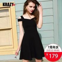 wedding photo - 2017 Spring Summer new product slim seduction Strapless trim slim fit little black dress - Bonny YZOZO Boutique Store
