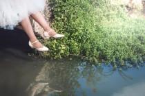 wedding photo - Blanche Bridal Summer Shoe, The Romantic Cream Low Heeled Vintage Inspired Wedding Kitten Heel