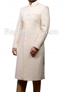 wedding photo - Mens Designer Sherwani Indian Groom Wedding Sherwani Suit Outfit