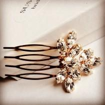 wedding photo - Gold /Rose gold / Silver/ Bridal mini hair comb made with Swarovski rhinestones. Wedding hair accessory, headpiece bridesmaid bride hair