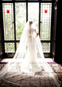 wedding photo - Extra full, extra wide - white, ivory, cathedral, regal, royal cathedral veil