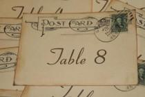 wedding photo - Wedding Table Number Cards - Vintage Postcard Style - Quantity 20