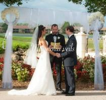 wedding photo - Two Tier Beautiful Veil with raw edge and a metal comb
