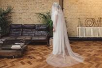 wedding photo - Soft tulle drop veil, soft silky drop veil, English Net drop veil, Kate Middleton veil, fingertip, chapel, cathedral length - 'THERESE'