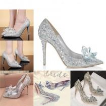 wedding photo - Cinderella Rhinestone Glass Slipper - wedding - party heels
