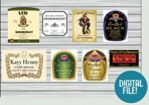 wedding photo - DIGITAL custom liquor label, custom whiskey label, custom rum label, custom tequila label, whiskey label groomsmen, whiskey label customized