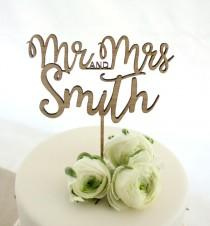 wedding photo - Personalised cake topper, custom wedding cake topper, eco friendly cake topper, wedding timber cake topper, mr and mrs